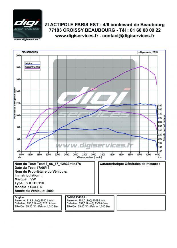 reprogrammation moteur vw golf 6 2 0 tdi 110 digiservices. Black Bedroom Furniture Sets. Home Design Ideas